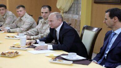 """صورة صحيفة بريطانية تتحدث عن مصير """"الأسد"""" في حال تنحّيه عن السلطة.. ما علاقة بوتين؟"""