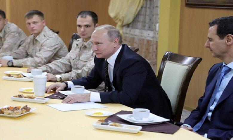 علاقة بوتين بشار الأسد