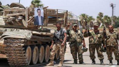 """صورة نظام الأسد يرسل تعزيزات عسكرية من محيط إدلب إلى أطراف مدينة """"الباب"""" شرق حلب.. ما أهدافه؟"""