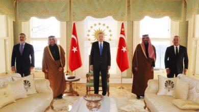 """صورة الرئاسة التركية تتحدث عن تفاصيل اجتماع """"أردوغان"""" بمسؤولين قطريين بشأن الملف السوري!"""