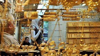 صورة انخفاض قياسي تسجله أسعار الذهب في سوريا اليوم متأثرة بتحسن قيمة الليرة مقابل الدولار!
