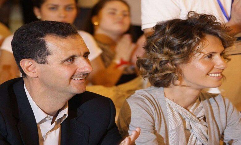 بشار الأسد وزوجته كورونا