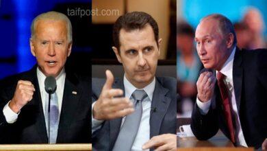 """صورة تقرير أمريكي يتحدث عن خطة """"بوتين"""" الجديدة لإنقاذ بشار الأسد ويدعو """"بايدن"""" للتحرك الفوري!"""