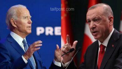 """صورة رسالة عاجلة من """"أردوغان"""" إلى نظيره الأمريكي """"بايدن"""" بشأن الأوضاع في سوريا.. إليكم مضمونها"""