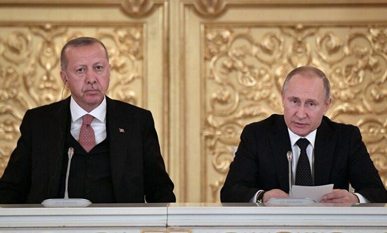 تفاصيل المباحثات بين بوتين وأردوغان