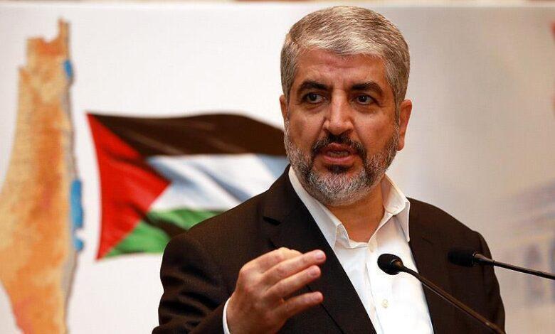 خالد مشعل بنظام الأسد