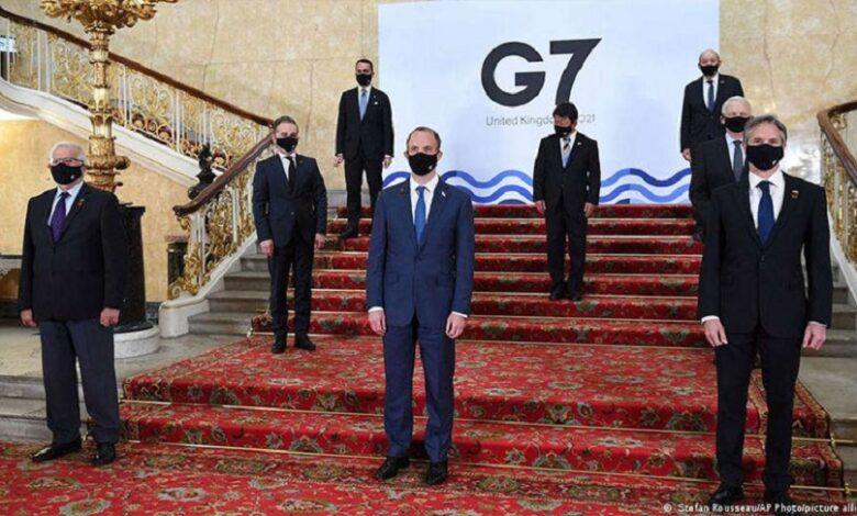 مجموعة الدول السبع الملف السوري