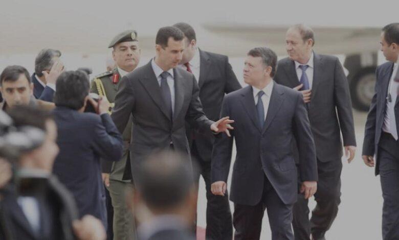 نظام الأسد الأردن