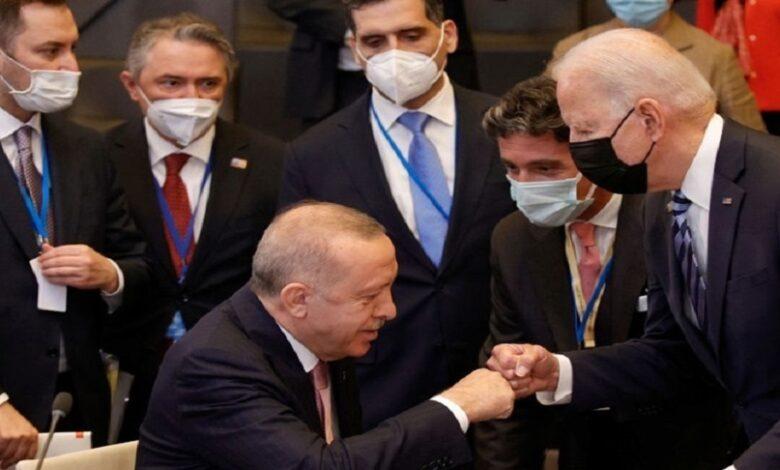 أردوغان بايدن سوريا