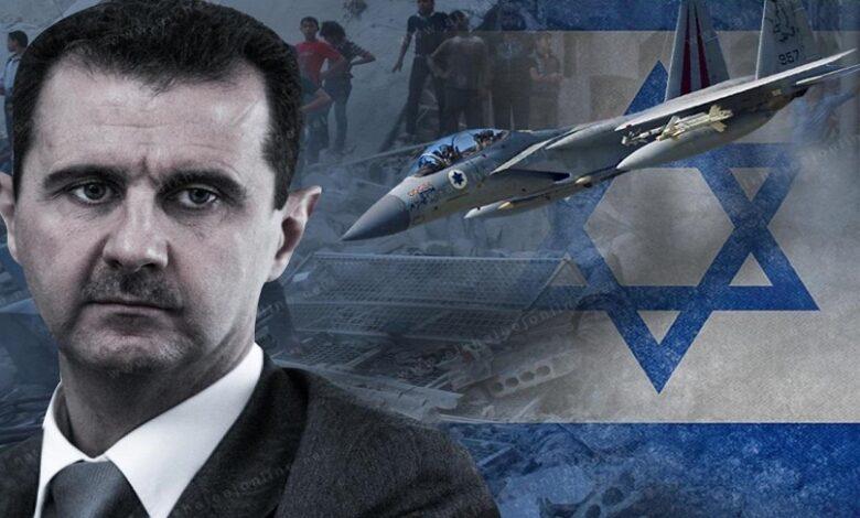 إسرائيل رسالة لنظام الأسد