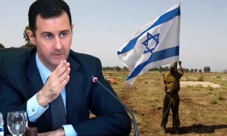 النظام السوري لتل أبيب