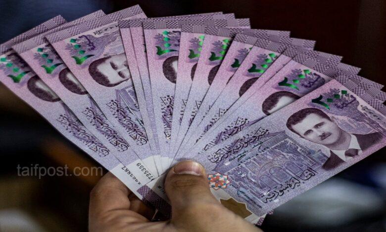 انخفاض قيمة الليرة مقابل الدولار