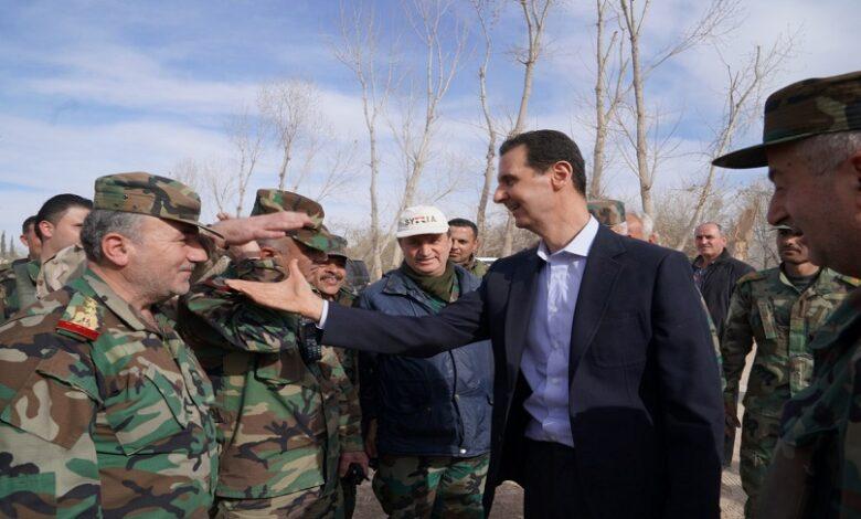 بشار الأسد تغييرات جيشه
