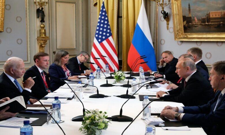 بوتين وبايدن بشأن سوريا