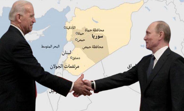 رسالة بوتين بايدن سوريا