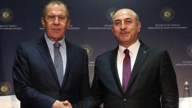 صورة لافروف يتحدث عن اتفاقه مع الجانب التركي على إنشاء منطقة خالية من التواجد العسكري في إدلب!