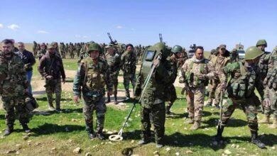 صورة تعزيزات ضخمة لقوات النظام بهدف شن عملية عسكرية جديدة في هــ.ـذه المنطقة من سوريا