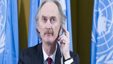 صورة بعد اتصال مع كبار المسؤولين في روسيا وأمريكا.. بيدرسون يتحدث عن مباحثات دولية جديدة بشأن سوريا