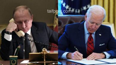 """صورة """"مباحثات مثمرة"""".. اتصال هاتفي بين بوتين وبايدن بعد تمديد آلية المساعدات إلى سوريا.. إليكم مضمونه!"""