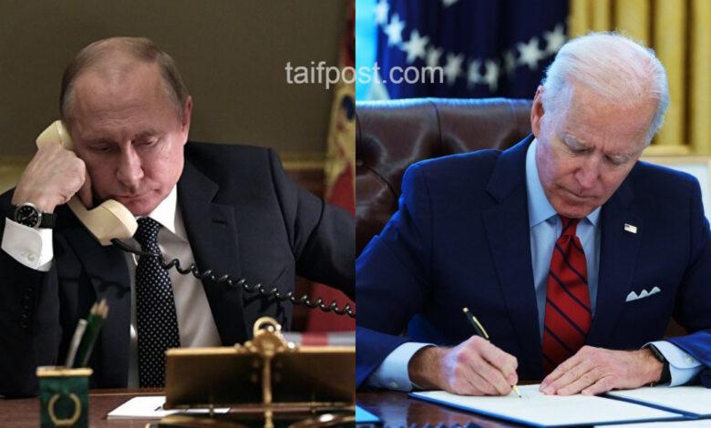 اتصال هاتفي بين بوتين وبايدن