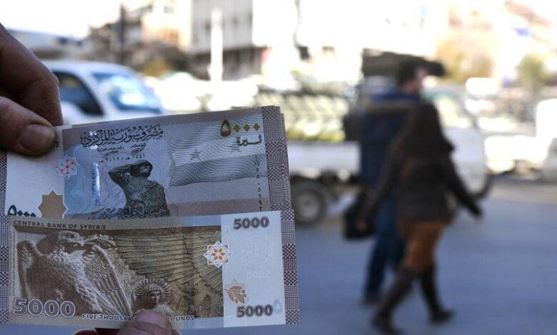 انخفاض الليرة السورية الدولار