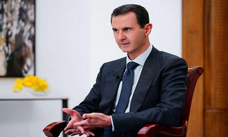 بشار الأسد بعد فوزه بالانتخابات