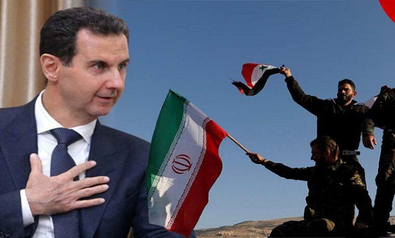 بشار الأسد علاقة إيران