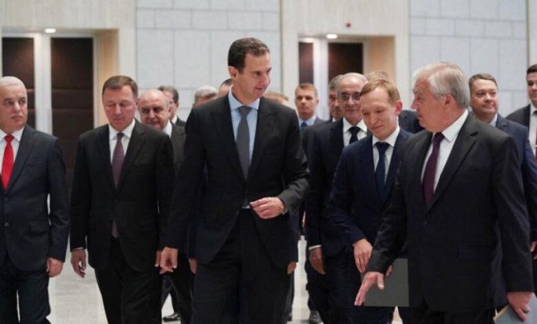 مبعوث بوتين بشار الأسد