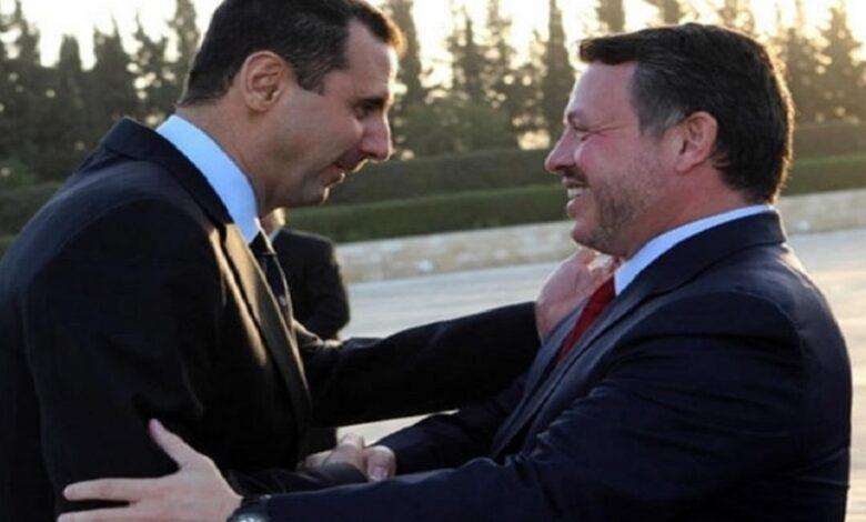 ملك الأردن بقاء الأسد