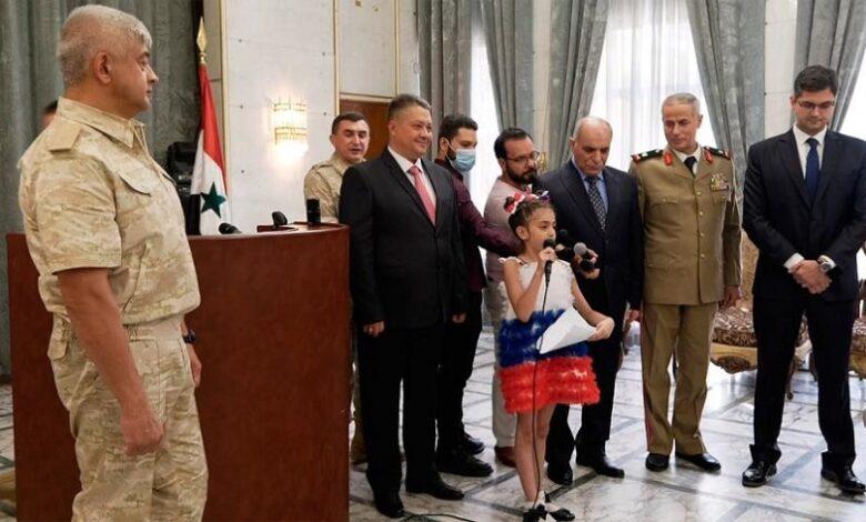 الرئيس الروسي رسالة لطفلة سورية
