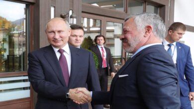 صورة الكشـ.ـف عن تفاصيل المباحثات بين الرئيس الروسي وملك الأردن.. بوتين يقدم مقترحاً جديداً بشأن سوريا