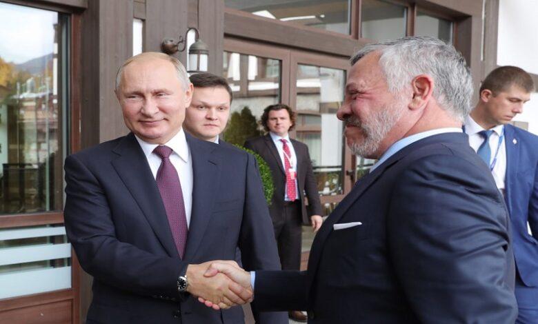 الرئيس الروسي وملك الأردن