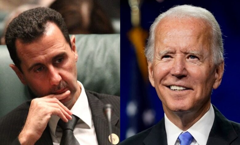 بشار الأسد لإدارة بايدن بشأن سوريا
