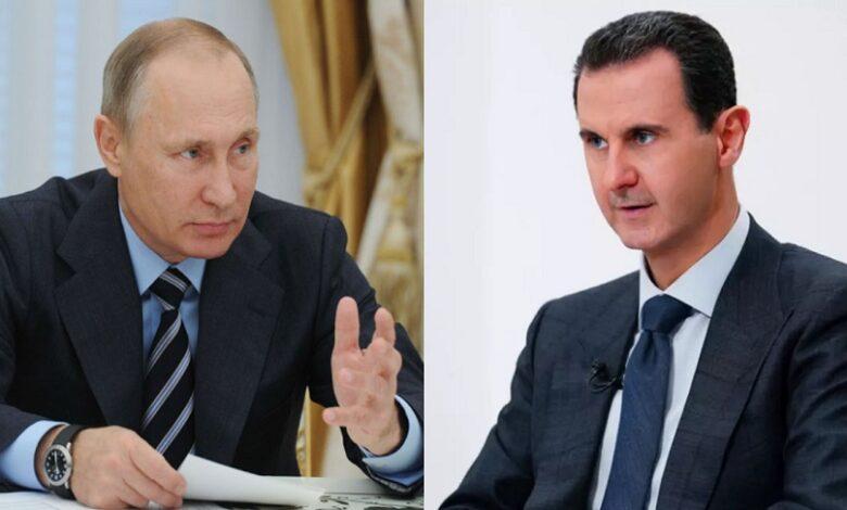 بوتين وبشار الأسد الجنوب السوري