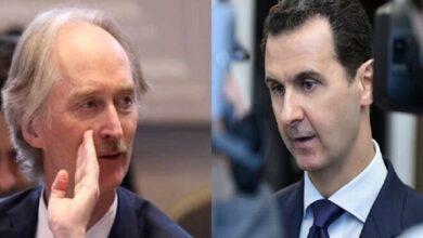 """صورة اجتماع هام بين """"بيدرسون"""" وممثلي اللجان المركزية في درعا.. هل وعد بالحل والضغط على نظام الأسد؟"""