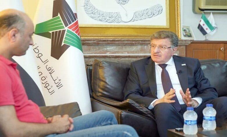 رئيس الائتلاف الملف السوري