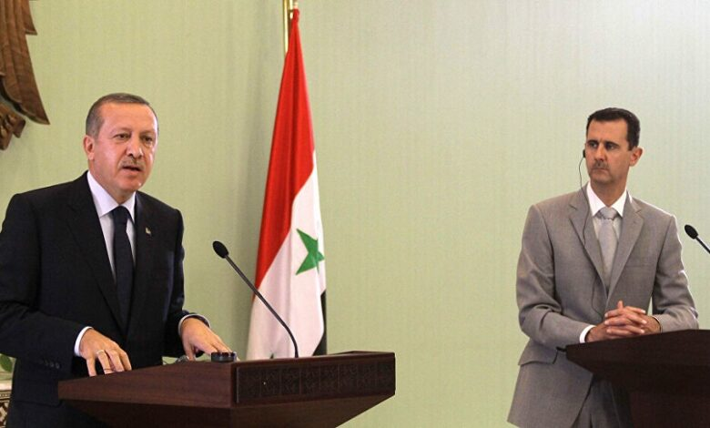 بوتين أردوغان بشار الأسد