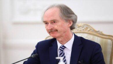 """صورة """"بيدرسون"""" يعلن عن وصوله لمحادثات ناجحة مع نظام الأسد حول القرار 2254"""