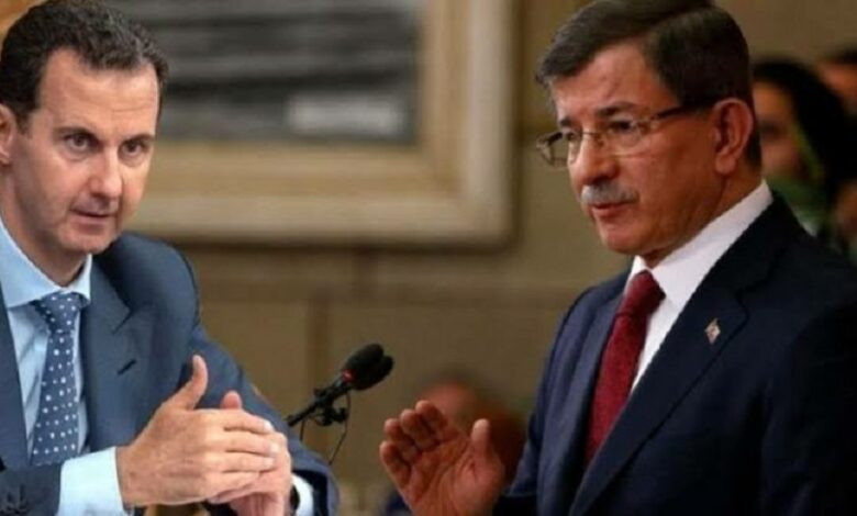 داود أوغلو وبشار الأسد