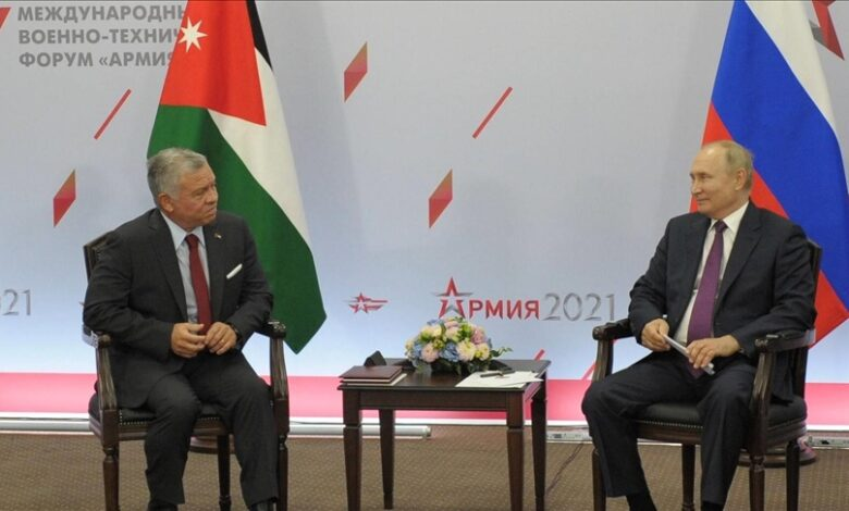 ملك الأردن بوتين سوريا
